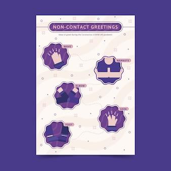 Bezkontaktowy format plakatu z pozdrowieniami