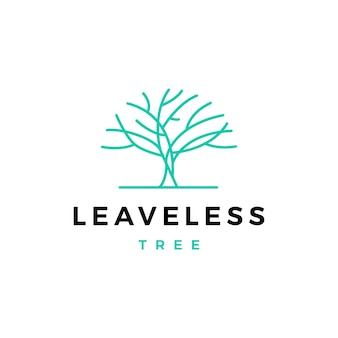 Bezlistne drzewo logo wektor ikona ilustracja