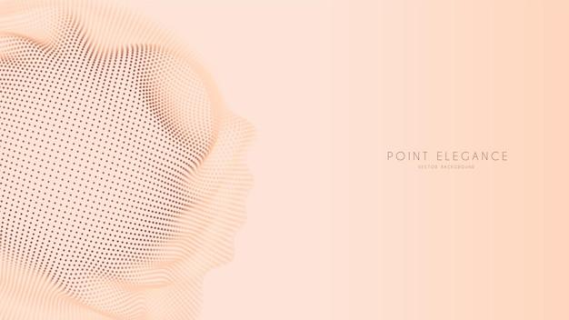 Beżowe abstrakcyjne tło glitch point kuli