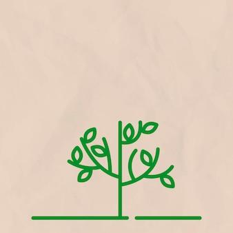 Beżowe tło linii drzewa