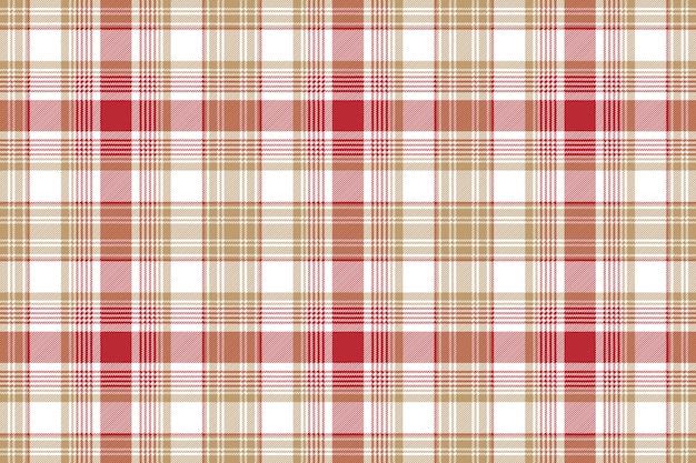 Beżowej czerwonej białej tkaniny tekstury bezszwowy tło