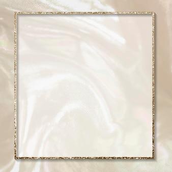 Beżowo-złota ramka z brokatem