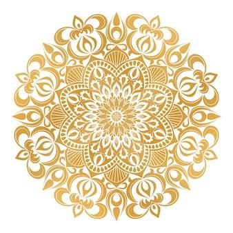 Beżowy ornament mandali
