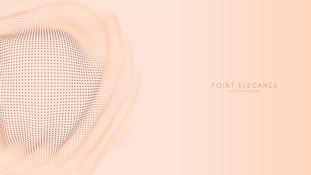 Beżowy streszczenie tło glitch punkt kula. elegancki stylowy futurystyczny szablon.