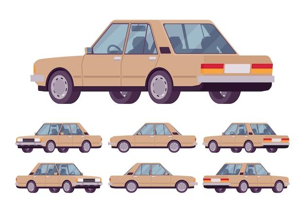 Beżowy zestaw sedan