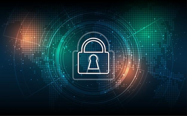 Bezpieczeństwo cyber cyfrowy pojęcie abstrakcjonistyczna technologia