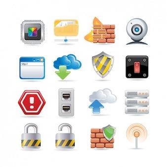 Bezpieczeństwo icon set