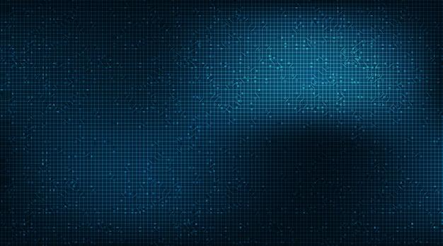 Bezpieczeństwo mikrochip nowoczesny obwód na tle technologii