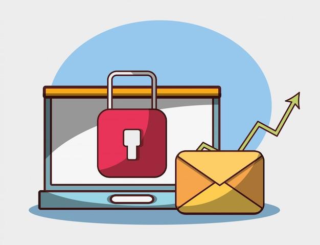 Bezpieczeństwo poczty elektronicznej laptopa dane pieniądze biznes finansowy