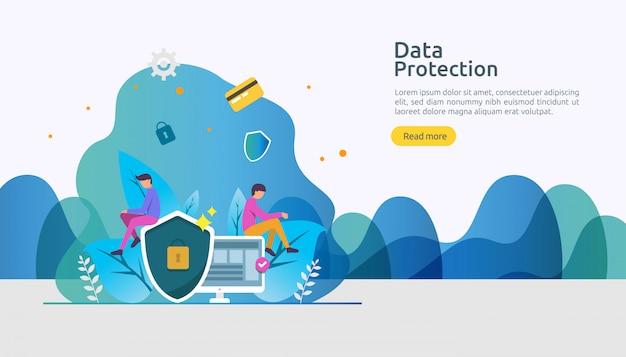Bezpieczeństwo sieci bezpieczeństwa i ochrona poufnych danych z charakterem ludzi