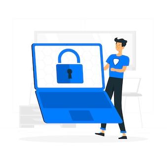 Bezpieczna ilustracja koncepcja danych