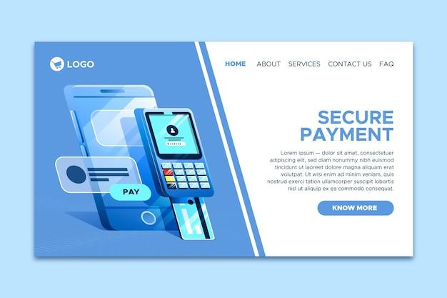 Bezpieczna strona docelowa płatności