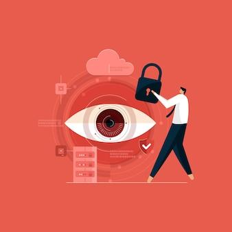 Bezpieczne cyfrowe technologie informacyjne chronione przechowywanie danych w chmurze