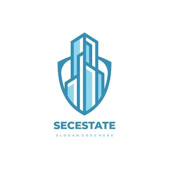 Bezpieczne logo nieruchomości
