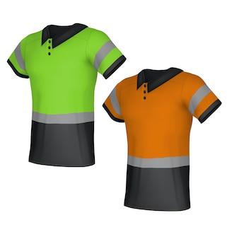 Bezpieczne odblaskowe koszulki polo