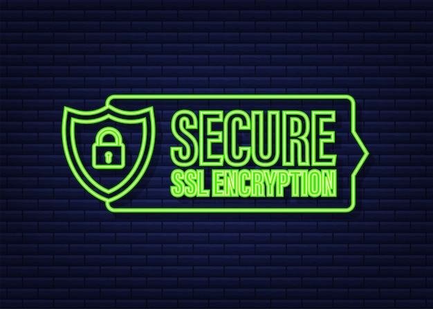 Bezpieczne połączenie ikona wektor ilustracja na białym tle płaski zabezpieczone ssl