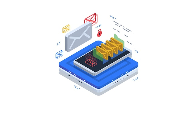 Bezpieczne przechowywanie poczty i poczty e-mail. ochrona przed spamem i złośliwym oprogramowaniem.