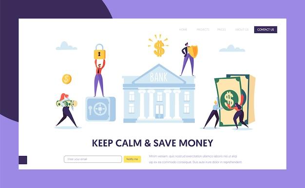 Bezpieczny depozyt bankowy na stronie docelowej gotówki