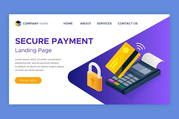 Bezpieczny szablon strony docelowej płatności