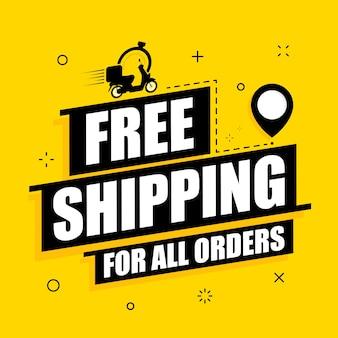Bezpłatna dostawa wszystkich banerów tekstowych zamówień