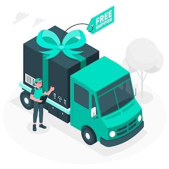 Bezpłatna wysyłka ilustracja koncepcja