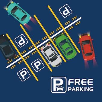 Bezpłatny parking z widokiem na powietrze