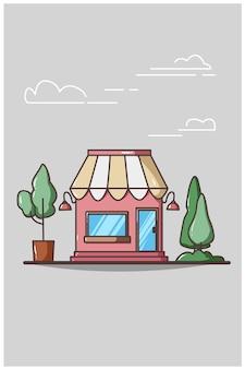 Bezpłatny rysunek strony kawiarni ilustracja