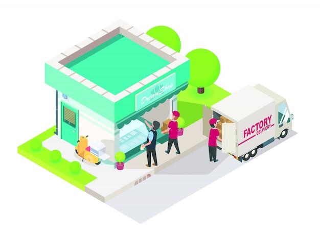 Bezpośrednia dostawa fabryczna do nowego sklepu