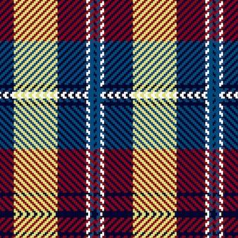 Bezproblemowa tartan wzór. szkocka tkana tekstura.