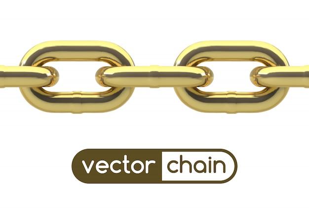 Bezproblemowy owalny łańcuch ogniw