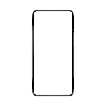 Bezramowa realistyczna wyobrażona ilustracja smartfona bez ramki