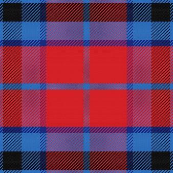 Bezszwowa czerwona i niebieska szkocka krata