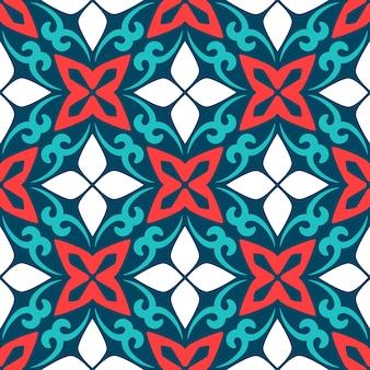 Bezszwowa deseniowa arabska ornamentacyjna ceramiczna płytka