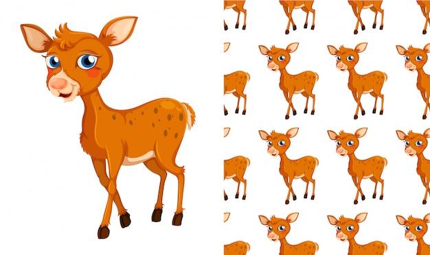 Bezszwowa i odosobniona zwierzę deseniowa kreskówka