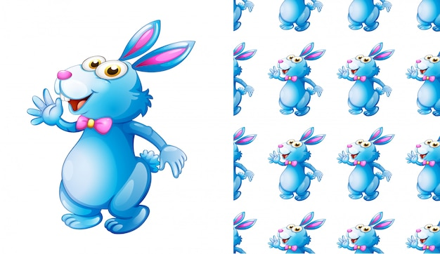 Bezszwowa królika zwierzęcia wzoru kreskówka