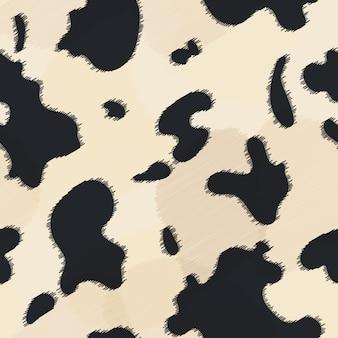 Bezszwowa krowy skóry tekstura.