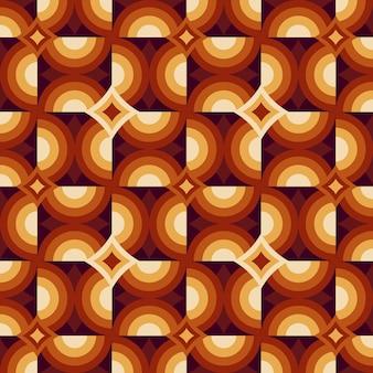 Bezszwowa monochromatyczna geometryczna groovy wzór tekstury