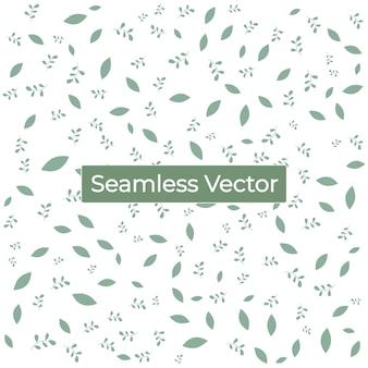 Bezszwowa natura zielony wzór z liśćmi tło wektor premium