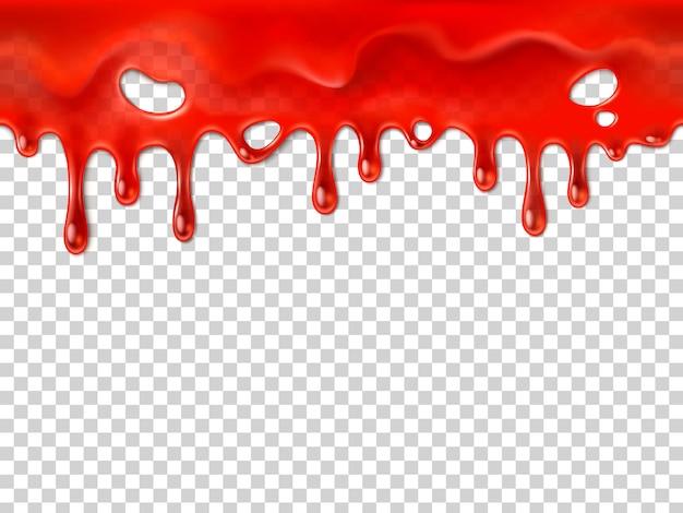 Bezszwowa ociekająca krew