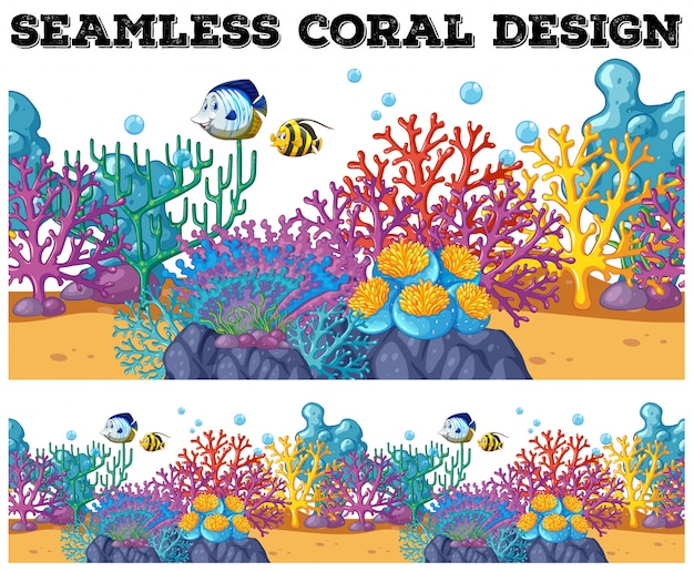 Bezszwowa rafa koralowa pod oceanem