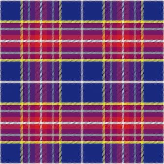 Bezszwowa szkocka krata w kolorze niebieskim i czerwonym