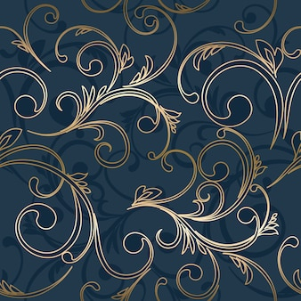Bezszwowa tapeta adamaszku. streszczenie kwiatowy wzór.
