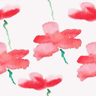 Bezszwowa tapeta z kwiatami