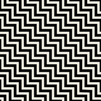 Bezszwowa tekstura czarne linie zygzakowate