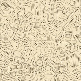 Bezszwowa tekstura mapy topograficznej