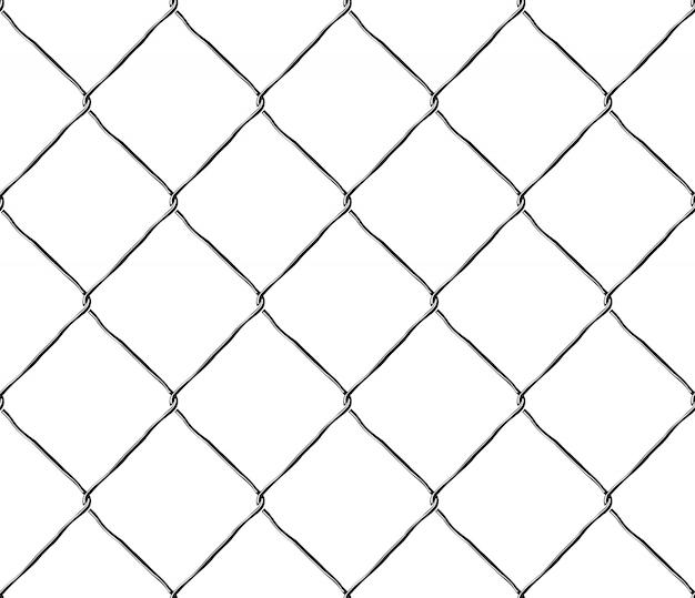 Bezszwowa tekstura metalu siatki stali ogrodzenie