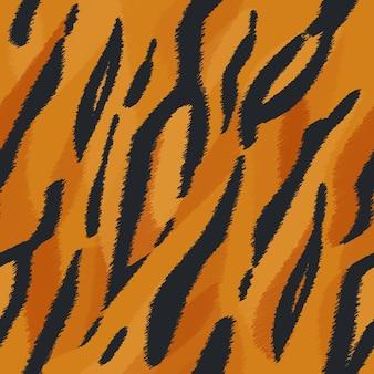 Bezszwowa tekstura skóry tygrysa. tekstura futra zwierząt safari. nadruk zwierzęcy, wzór.