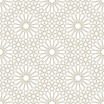 Bezszwowe arabski ornament geometryczny w kolorze brązowym.
