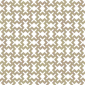 Bezszwowe arabski wzór geometryczny w kolorze brązowym.