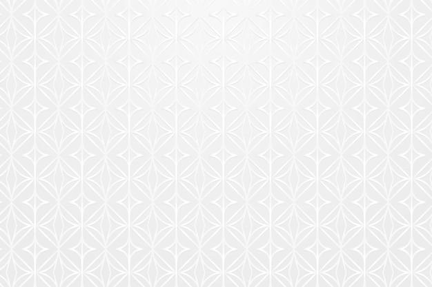 Bezszwowe białe okrągłe geometryczne wzorzyste tło wektor zasobów projektu
